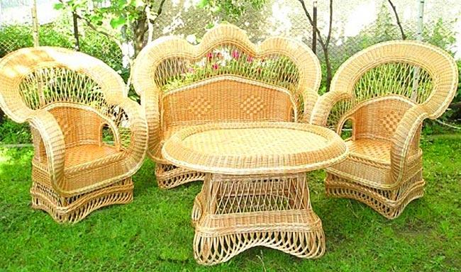 Как сплести садовую мебель